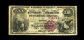 National Bank Notes:Kentucky, Danville, KY - $10 1882 Brown Back Fr. 480 The Boyle NB Ch. # 3317.A just plain rare Brown Back only issuer, with the G...
