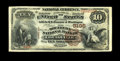 National Bank Notes:Kentucky, Louisville, KY - $10 1882 Brown Back Fr. 490 The Southern NB Ch. #5195. Large notes only from this rather short lived L...