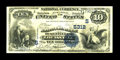 National Bank Notes:Kentucky, Louisville, KY - $10 1882 Value Back Fr. 577 The NB of Kentucky Ch.# (S)5312. Just 42 $10 Value Backs are listed for th...