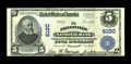 National Bank Notes:Kentucky, Paintsville, KY - $5 1902 Plain Back Fr. 608 The Paintsville NB Ch.# 6100. Printed dark signatures and original surface...