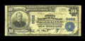 National Bank Notes:Kentucky, Pikeville, KY - $10 1902 Plain Back Fr. 624 The First NB Ch. #6622. Dark printed signatures of Yost and Gray are found ...