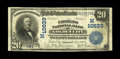 National Bank Notes:Missouri, Golden City, MO - $20 1902 Plain Back Fr. 657 The Citizens NB Ch. #(M)10633. Large notes only from this very scarce ban...
