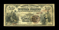 National Bank Notes:Missouri, Saint Louis, MO - $20 1882 Brown Back Fr. 498 The NB of CommerceCh. # 4178. From a prolific St. Louis issuer. This Ve...