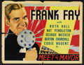 """Movie Posters:Comedy, Meet the Mayor (Times, 1938). Half Sheet (22"""" X 28""""). Comedy. ..."""