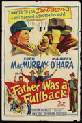 "Movie Posters:Sports, Father Was a Fullback (20th Century Fox, 1949). One Sheet (27"" X 41""). Sports. ..."
