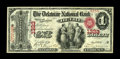 Delhi, NY - $1 Original Fr. 380 The Delaware NB Ch. # 1323 A beautiful note with perfect centering and incredible color...