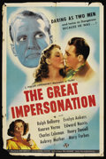 "Movie Posters:Adventure, The Great Impersonation (Universal, 1942). One Sheet (27"" X 41"")...."