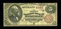 "National Bank Notes:Oklahoma, Muscogee, OK - $5 1882 Brown Back Fr. 471 The First NB Ch. # (W)4385. This is the most ""common"" of the Territorial banks..."