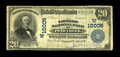 National Bank Notes:Oklahoma, Pond Creek, OK - $20 1902 Plain Back Fr. 653 The Farmers NB Ch. # (W)10005. This is an excessively rare note from a bank...