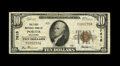 National Bank Notes:Oklahoma, Porter, OK - $10 1929 Ty. 1 The First NB Ch. # 7615. A very scarce note from the sole Porter issuer that lasted long eno...