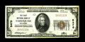 National Bank Notes:Oklahoma, Tahlequah, OK - $20 1929 Ty. 1 The First NB Ch. # 5478. The highest grade small note we've had from this interestingly n...