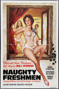 """Naughty Freshmen and Other Lot (SRC Films, 1970). One Sheets (2) (27"""" X 41""""). Adult. ... (Total: 2 Items)"""