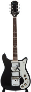 Musical Instruments:Electric Guitars, 1970's Epiphone Crestwood Black Solid Body Electric Guitar....