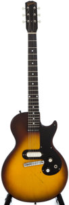 Musical Instruments:Electric Guitars, 1960 Gibson Melody Maker Sunburst Solid Body Electric Guitar,Serial Number #0 5638....