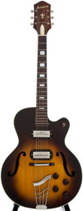 Musical Instruments:Acoustic Guitars, 1950's Harmony Sunburst Archtop Electric Guitar....