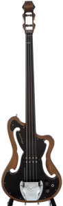 Musical Instruments:Bass Guitars, 1960's Ampeg AUB-1 Refinished Electric Bass Guitar....