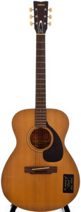Musical Instruments:Acoustic Guitars, 1970's Yamaha FG-110 Natural Acoustic Guitar....