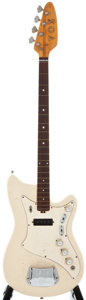 Musical Instruments:Electric Guitars, 1960's Vox Project White Solid Body Electric Guitar, Serial Number#358703....