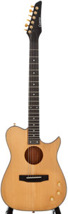 Musical Instruments:Acoustic Guitars, Carvin Acoustic Thinline Natural Acoustic Electric Guitar, SerialNumber #48721....