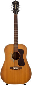 Musical Instruments:Acoustic Guitars, 1974 Guild D-40 Natural Acoustic Guitar, Serial Number #146004....