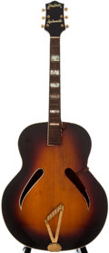 Musical Instruments:Acoustic Guitars, 1951 Gretsch Synchromatic Sunburst Archtop Acoustic Guitar, SerialNumber #4740....