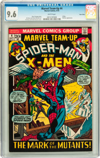 Marvel Team-Up #4 Spider-Man and X-Men - Twin Cities pedigree (Marvel, 1972) CGC NM+ 9.6 White pages