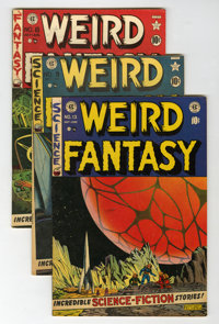 Weird Fantasy #8, 9, and 13 Group (EC, 1951-52).... (Total: 3 Comic Books)