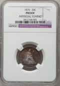 Proof Twenty Cent Pieces, 1876 20C -- Artificial Toning -- NGC Details. Proof....