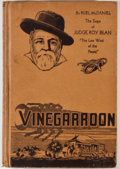 Books:First Editions, Ruel McDaniel. Vinegarroon. Kingsport: Southern Publishers, [1936].First edition. Octavo. Publisher's binding....