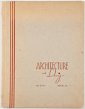 Books:First Editions, Architecture and Design. Vol. III, No. 1. Some Work of GeorgeFred Keck. [New York: Architectural Catalog Co., 1939]. Fi...