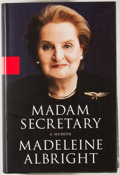 Books:Signed Editions, Madeleine Albright. SIGNED BOOKPLATE. Madam Secretary. [New York]: Miramax Books, [2003]. First edition, first print...