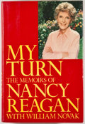 Books:Signed Editions, Nancy Reagan. INSCRIBED. My Turn: The Memoirs of Nancy Reagan. New York: Random House, [1989]. First edition, first printing...