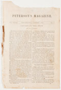 Antiques:Posters & Prints, Disbound Peterson's Magazine Circa January, 1861. An incomplete 39th volume of Peterson's Magazine, January, 1861, publi...