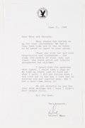 Books:Signed Editions, Delbert Mann. Typed Letter Signed and on Directors Guild Letterhead. Single page and dated 1999. Letter from Man...