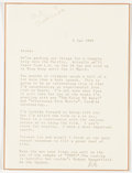 Books:Signed Editions, Arte Johnson [Rowan & Martin's Laugh-In]. Typed Letter Signed and Autograph Letter Signed. Single page each and ... (Total: 2 Items)
