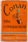 Books:First Editions, Robert E. Howard. Conan the Conqueror. New York: Gnome,[1950]. First edition, first printing. Octavo. 255 pages. Pu...