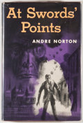 Books:First Editions, Andre Norton. At Sword's Points. New York: Harcourt, Brace,[1954]. First edition, first printing. Octavo. 279 pages...