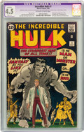 Silver Age (1956-1969):Superhero, The Incredible Hulk #1 (Marvel, 1962) CGC Apparent VG+ 4.5 Slight (A) Off-white to white pages....