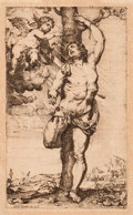Prints:Old Master, WILLEM PANNEELS (Flemish, 1590-1632). St. Sebastian, circa1614. Etching. 7 x 4-1/4 inches (17.8 x 10.8 cm). Signed and ...