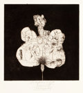 Prints, ARTIST UNKNOWN (20th Century). Zeitsymbol, 1966. Etching. 11-3/4 x 11-1/2 inches (29.8 x 29.2 cm). Probedruck (artist pr...