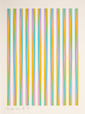 Prints, BRIDGET RILEY (British, b. 1931). Print for Chicago 8 (from the portfolio CONSPIRACY: The Artist as Witness), 1971. Colo...