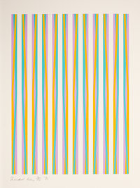 BRIDGET RILEY (British, b. 1931) Print for Chicago 8 (from the portfolio CONSPIRACY: The Artist as Witness)
