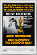 "Movie Posters:Academy Award Winners, One Flew Over the Cuckoo's Nest (United Artists, 1975). One Sheet (27"" X 41""). Academy Awards Style. Drama.. ..."