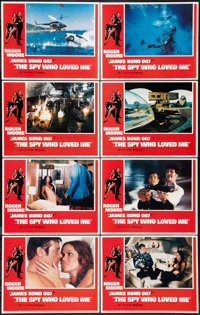 """The Spy Who Loved Me (United Artists, 1977). Lobby Card Set of 8 (11"""" X 14""""). James Bond. ... (Total: 8 Items)"""