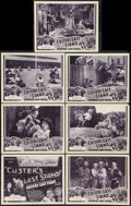 """Movie Posters:Adventure, Custer's Last Stand (Stage and Screen Productions, 1936). Title Lobby Card and Lobby Cards (6) (11"""" X 14"""") Chapter 11 - - """"W... (Total: 7 Items)"""
