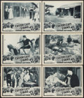 "Movie Posters:Adventure, Custer's Last Stand (Stage and Screen Productions, 1936). LobbyCards (6) (11"" X 14"") Chapter 13 - - ""Red Panthers."" Adventu...(Total: 6 Items)"