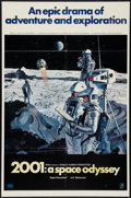 "Movie Posters:Science Fiction, 2001: A Space Odyssey (MGM, 1968). One Sheet (27"" X 41"") Style B. Science Fiction.. ..."