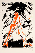 Fine Art - Work on Paper:Print, CLAES OLDENBURG (American, 1929-). Striding Figure (from theportfolio CONSPIRACY: The Artist as Witness), 1971. Col...