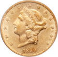 Liberty Double Eagles, 1890-CC $20 AU50 PCGS. Variety 1-A....