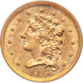 Classic Quarter Eagles, 1838 $2 1/2 AU58 PCGS. Breen-6146, Variety 19, R.2....